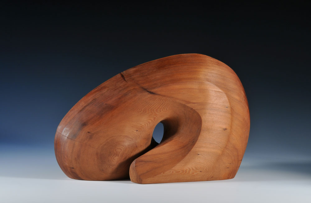sculpture-1201,-Finding-the-Flow-#2,-Redwood,-11''H